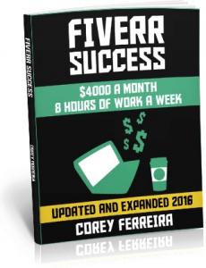 Ebook cover: Fiverr Succes