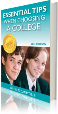 Ebook cover: The Essential Tips When Choosing a College