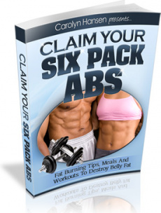 Ebook cover: Claim Your Six Pack Abs