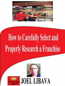 Ebook cover: How To Carefully Select And Properly Research A Franchise