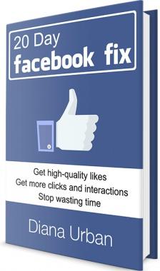 Ebook cover: 20 Day Facebook Fix