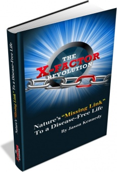 Ebook cover: The X-Factor Revolution. Natures Missing Link to a Disease-Free Life