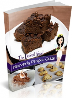 Ebook cover: The Dessert Angel's - Heavenly Recipe Guide