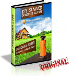 Ebook cover: DIY Stained Concrete Floors
