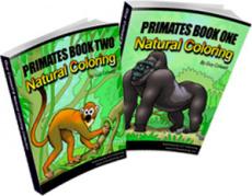 Ebook cover: Primates Colouring Books