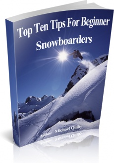 Ebook cover: Top 10 Tips for Beginner Snowboarders