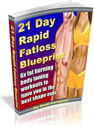 Ebook cover: 21 Day Rapid Fat Loss Blueprint