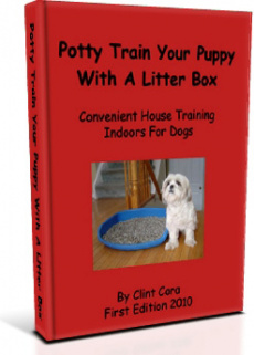 Ebook cover: Potty Train Your Puppy With A Litter Box