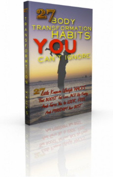Ebook cover: The 27 Body Transformation Habits YOU Can't Ignore