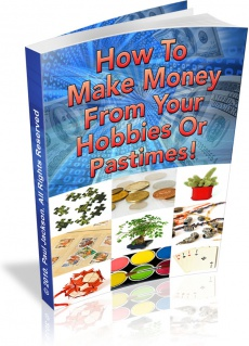 Ebook cover: Make money from your hobbies
