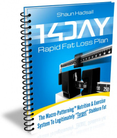 Ebook cover: 14 Day Rapid Fat Loss Plan