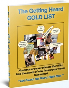 Ebook cover: The Getting Heard GOLD LIST