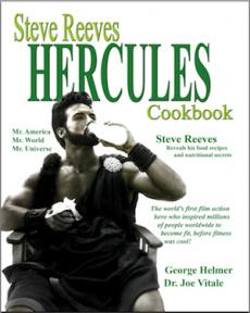 Ebook cover: Steve Reeves Hercules Cookbook