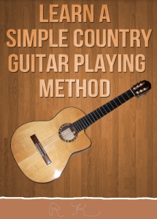 Ebook cover: Learn  A Simple Country Guitar method