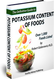 Ebook cover: The Definitive Guide To Potassium Content Of Foods