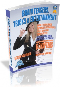 Ebook cover: Brain teasers, tricks & entertainment