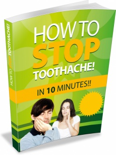 Ebook cover: How to Stop Toothache in 10 minutes