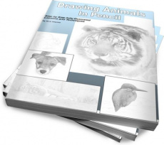 Ebook cover: Drawing Animals in Pencil