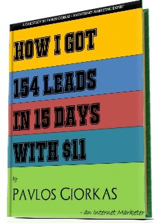 Ebook cover: Case study: How I Got 154 Leads in 15 days with $11 only