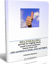 Ebook cover: SELF-HEALING: tingling hands, carpal tunnel syndrom