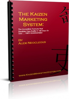 Ebook cover: The Kaizen Marketing System