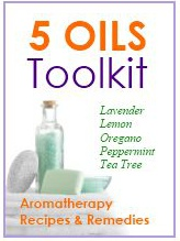 Ebook cover: Aromatherapy for Beginners - 5 Oils Toolkit
