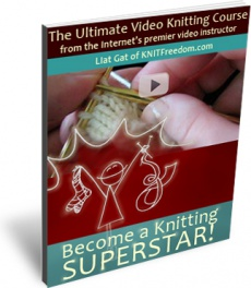 Ebook cover: Become A Knitting Superstar