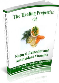 Ebook cover: The Healing Properties of Natural Remedies and Antioxidant Vitamins