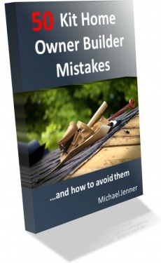Ebook cover: How to Avoid 50 Kit Home Owner Builder Mistakes