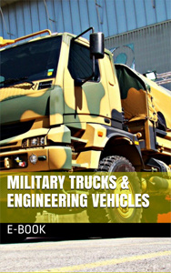 Ebook cover: Military Trucks and Engineering Vehicles