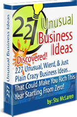 Ebook cover: 227 Unusual Business Ideas
