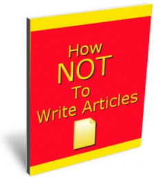 Ebook cover: How Not To Write Articles