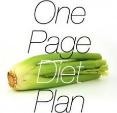 Ebook cover: The One Page Diet Plan
