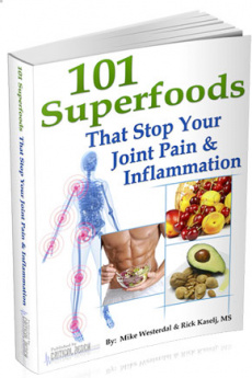Ebook cover: 101 Super Foods That Stop Your Joint Pain & Inflammation