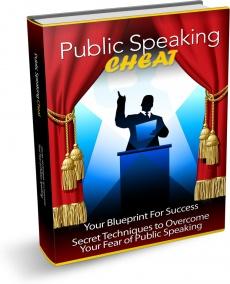 Ebook cover: Public Speaking Cheat