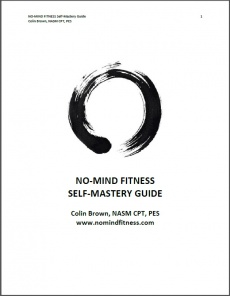 Ebook cover: NO-MIND FITNESS Self-Mastery Guide