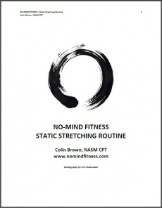 Ebook cover: NO-MIND FITNESS Static Stretching Routine