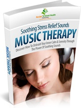 Ebook cover: Soothing Stress Relief Sounds Course