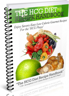 Ebook cover: The HCG Diet Recipe Handbook