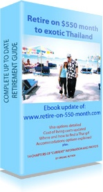 Ebook cover: Retire On 550 Month to exotic Thailand