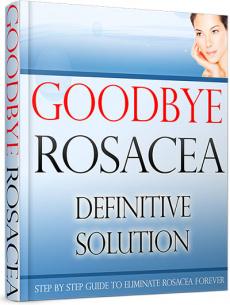 Ebook cover: Goodbye Rosacea