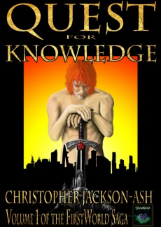 Ebook cover: Quest for Knowledge (Volume 1 of the FirstWorld Saga)