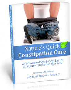 Ebook cover: Nature's Quick Constipation Cure