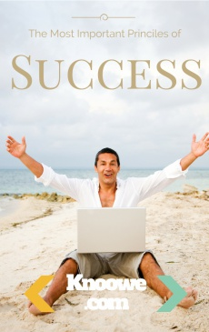 Ebook cover: The most important Principles of success