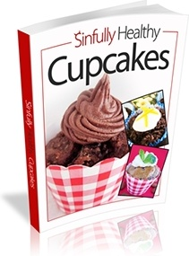 Ebook cover: Sinfully Healthy Cupcakes