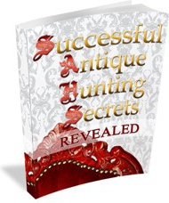 Ebook cover: Successful Antique Hunting Secrets Revealed
