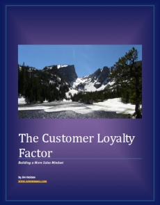 Ebook cover: The Customer Loyalty Factor