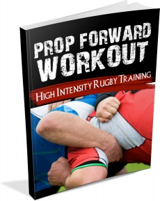 Ebook cover: Prop Workout - High Intensity Rugby Training