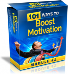 Ebook cover: 101 Ways to Boost Motivation