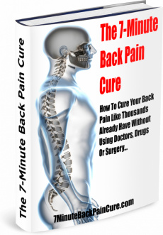 Ebook cover: 7 Minute Back Pain Cure